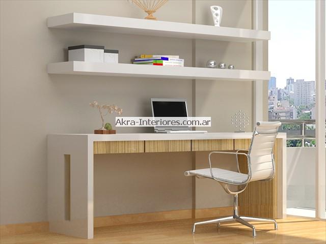 Las mejores bibliotecas muebles de colores en akra interiores for Muebles de escritorio modernos para casa