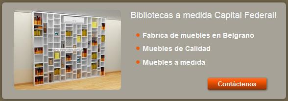 Lo que buscas en akra interiores las bibliotecas a medida for Mueblerias en capital federal buenos aires