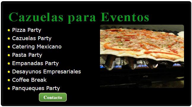 cazuelas de pollo al verdeo, la cazuela catering, cazuelas de comida, cazuelas con comida, cazuela de mariscos mexicana, cazuelas de mariscos, cazuelas para fiestas