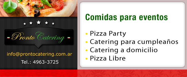 party catering menu, menus de catering, menu pizza pronto, menus para catering, servicio de pizza a la parrilla a domicilio